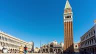 Timelapse Venice St mark's square video