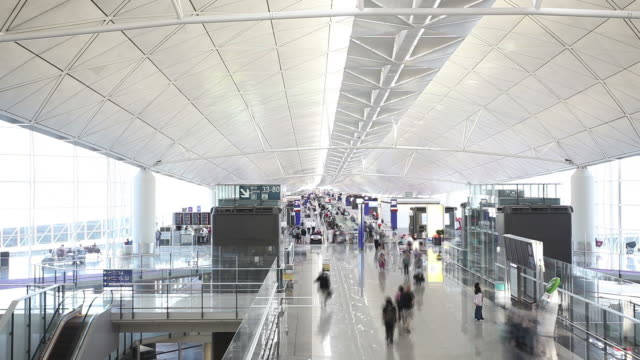 Timelapse video of airport video