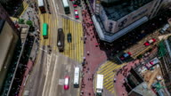 Timelapse video of Causeway Bay, Hong Kong - Top View video