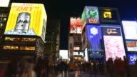Timelapse Video of Dotonbori Namba area Osaka japan video