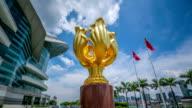 Timelapse video of Golden Bauhinia Square, Wan Chai, Hong Kong video