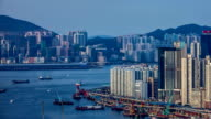 Timelapse video of Hong Kong Daytime Victoria Harbour video