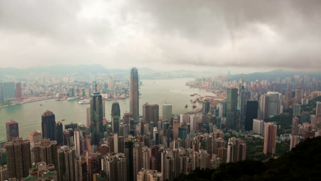 Timelapse video of Hong Kong from day to night video