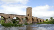 Time-lapse video of Medieval stone bridge in Frias, Spain video