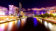 Timelapse video of Melbourne at night video