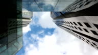 Timelapse Video of Office Buildings With Clouds video