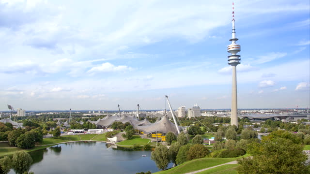 Time-lapse video of Olympic park in Munich video