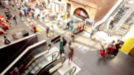 Timelapse video of people in a shopping mall video