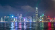 Timelapse video of Symphony of Light in Hong Kong video