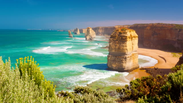 Timelapse video of Twelve Apostles in Australia video