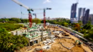 Timelapse Video Singapore Construction Site video