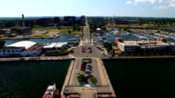 Timelapse view from Bicentennial Tower in Erie, Pennsylvania video