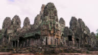 Timelapse view of Bayon temple at Angkor in Siem Reap video