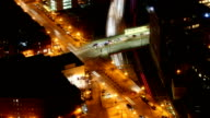 Timelapse view of Boston, Massachusetts at night video