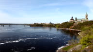 Timelapse view of Canada's Parliament by the Ottawa River video