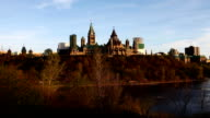Timelapse view of Canada's Parliament on a hill video