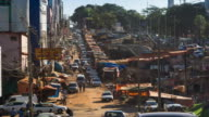 Timelapse View of Ciudad del Este, Paraguay - Zoom Out video