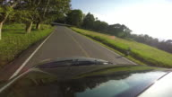 4K Time-lapse: View of Khao Yai national park from roof of car, Thailand video