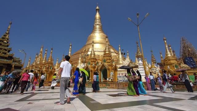 Timelapse View of Shwedagon Pagoda in Yangon, Myanmar video