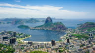Timelapse View of Sugarloaf Mountain in Rio de Janeiro, Brazil - Zoom In video
