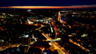 Timelapse view of the Boston Skyline at night video