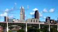 Timelapse view of the skyline of Cleveland video