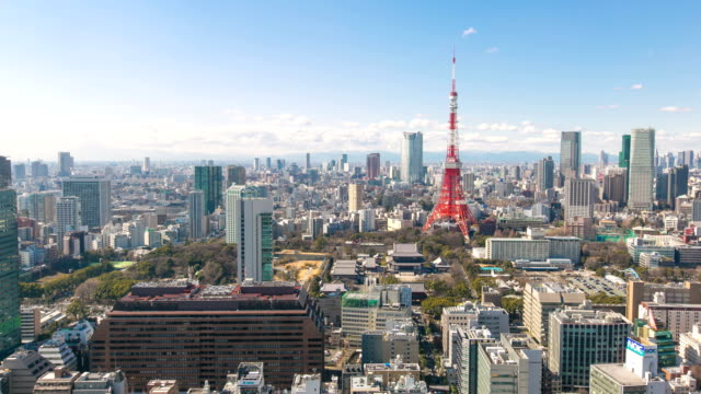 Timelapse view of Tokyo city video