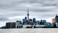 Timelapse view of Toronto skyline and harbor, Canada video
