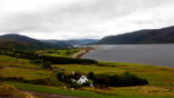Timelapse view of Ullapool in Scotland video