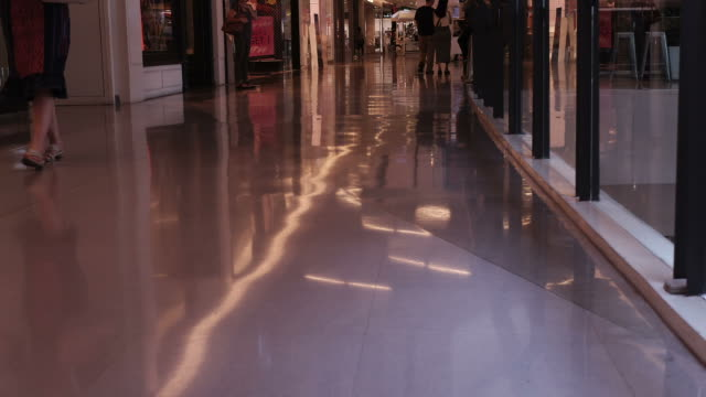 HD time-lapse : Walking people in shopping centre video