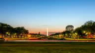 HD Time-lapse: Washington Monument at dusk DC USA video