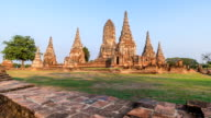 HD Timelapse : Wat Chaiwatthanaram in Ayutthaya, Thailand video