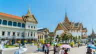 4K Timelapse : Wat phra kaew in Bangkok Thailand video