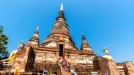 HD Timelapse : Wat Yai Chai Mongkol in Ayutthaya, Thailand video