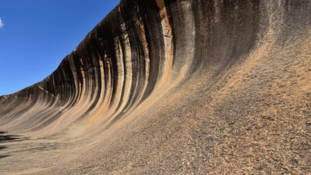 4K Time-lapse (Zoom): Wave Rock at sunny day, Western Australia video