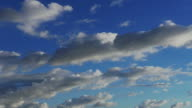 Time-lapse White Puffy Clouds with Clear Blue Sky (UltraHD 4K) video