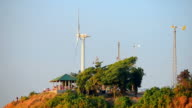 Timelapse wind turbine at viewpoint video