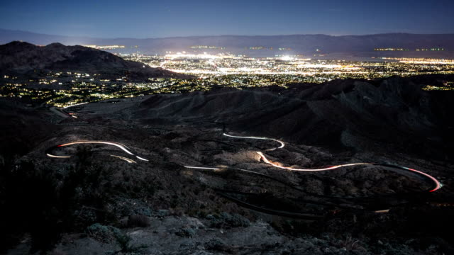 Time-Lapse Winding Road Palm Springs video