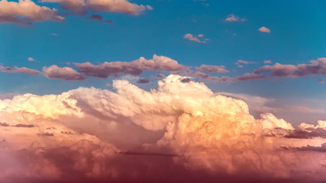Timelapse with sunset cloudy sky video