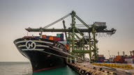 4K time-lapse: Working at Singapore Shipyard Port Terminal video