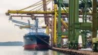 time-lapse: Working at Singapore Shipyard Port Terminal video