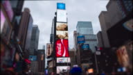 Timelapse Young woman Time Square New York City Manhattan video
