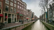 Time-lapse Zoom: Amsterdam Canal Red Light District, Netherland video