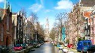 HD Time-lapse Zoom out: South Church Zuiderkerk Amsterdam video