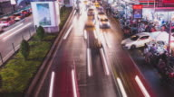 4K time-lapse:Busy traffic at siam square , Bangkok , Thailand video