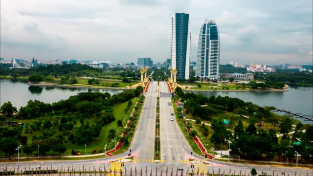 Timelapse,City Scape of Putrajaya, Malaysia video