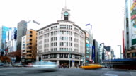 HD Time-lapse:City Traffic Tokyo Ginza video