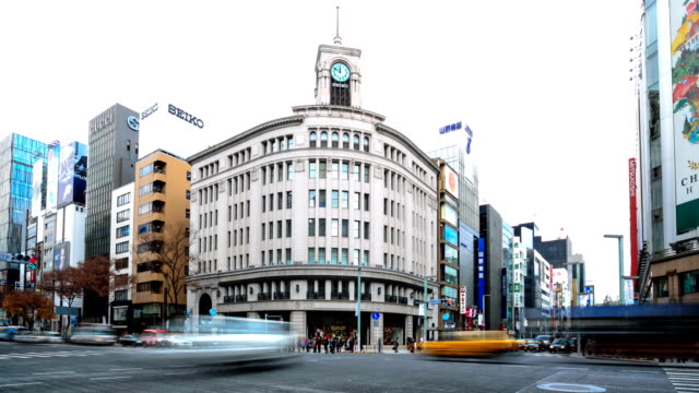 HD Time-lapse:City Traffic Tokyo Ginza video