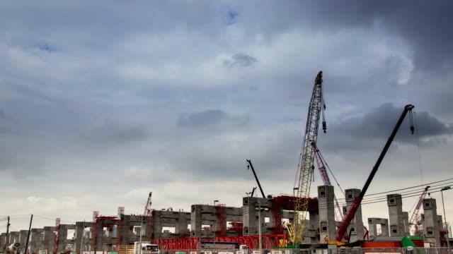 Timelapse:Construction site video