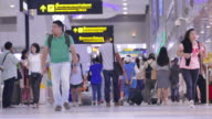 Timelapse:Crowd Airport video